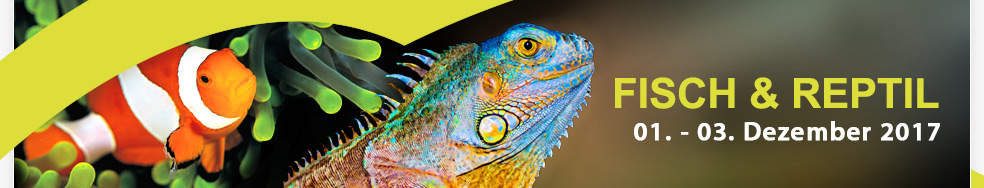 Fisch & Reptil 2016, 2. bis 4. Dezember in der Messe Sindelfingen
