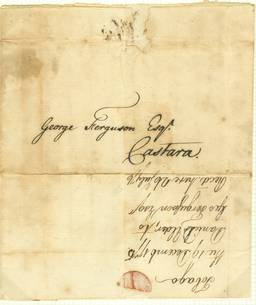 A scarce local letter from Douglas Elder to George Ferguson in Castara. 1775!